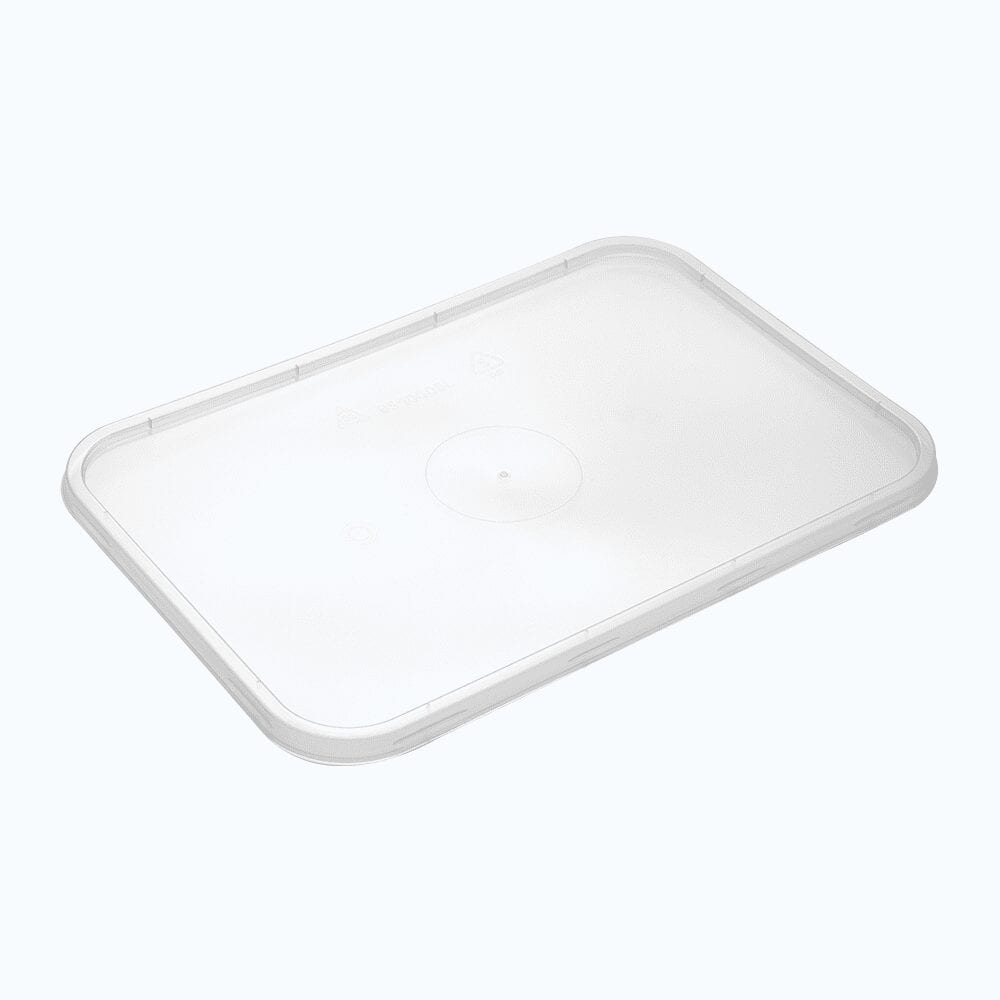 BetterSelection® PP Rectangular Wide Base Container Flat Lid