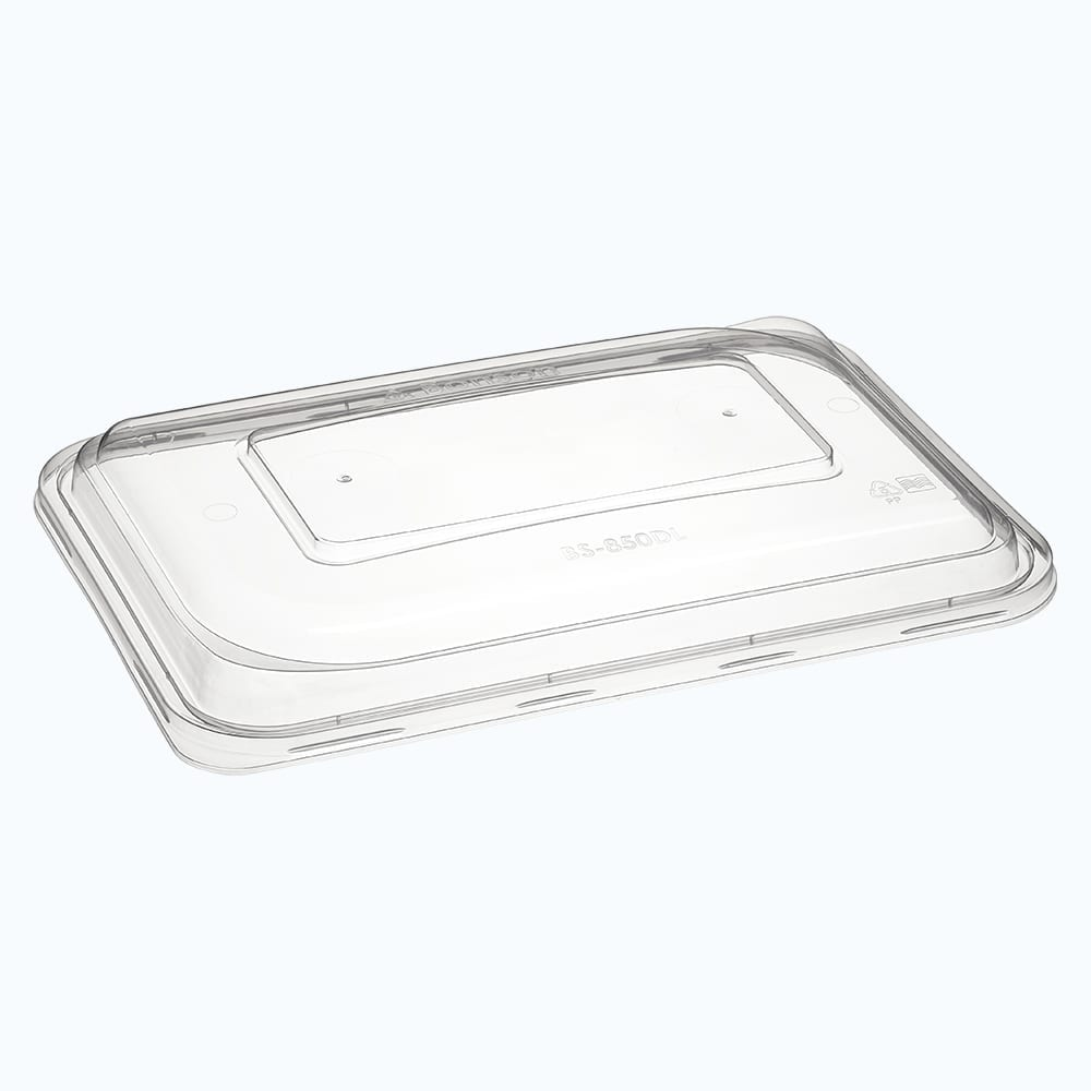 BetterSelection® PP Rectangular Wide Base Container Raised Lid