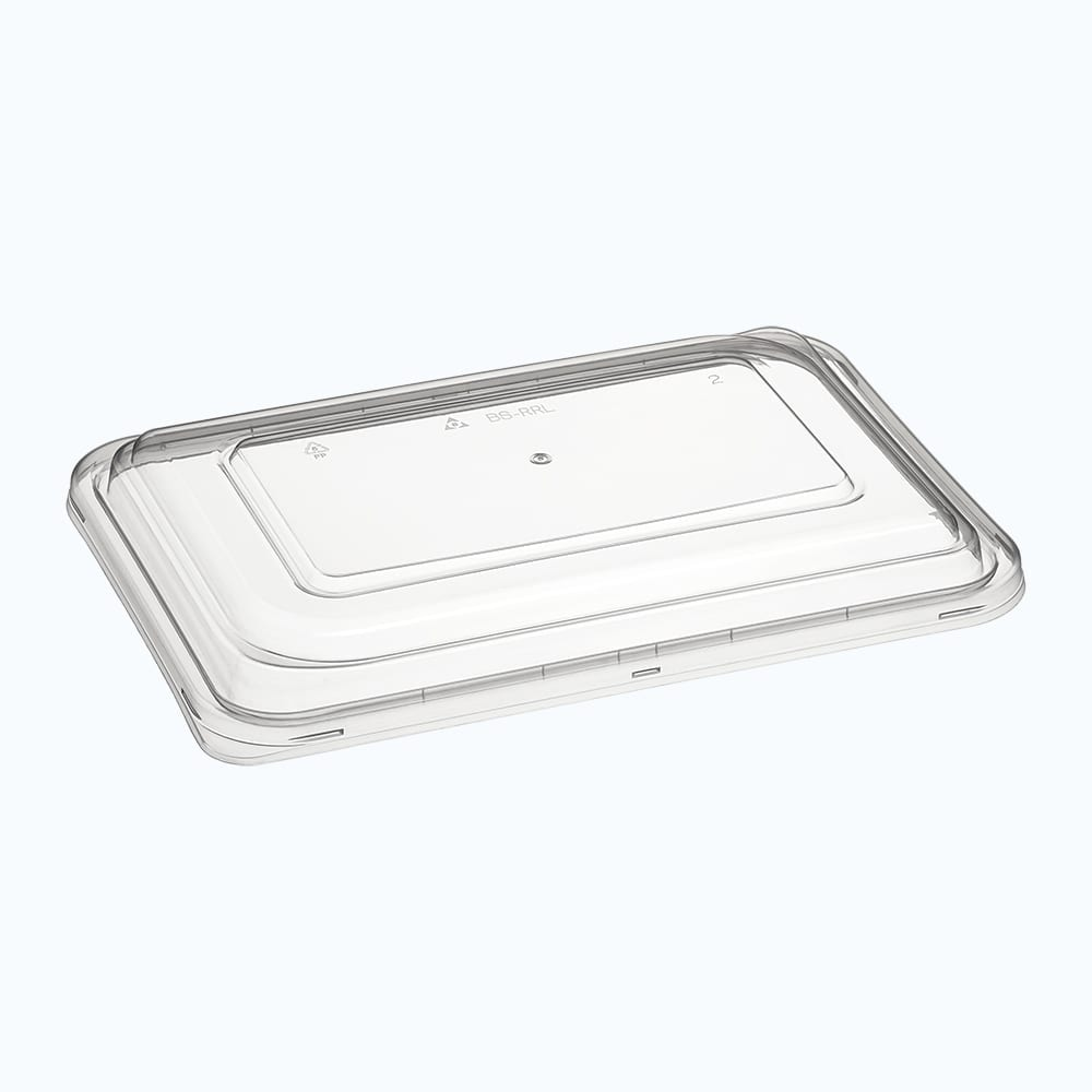 BetterSelection® PP Rectagular Container Raised Lid