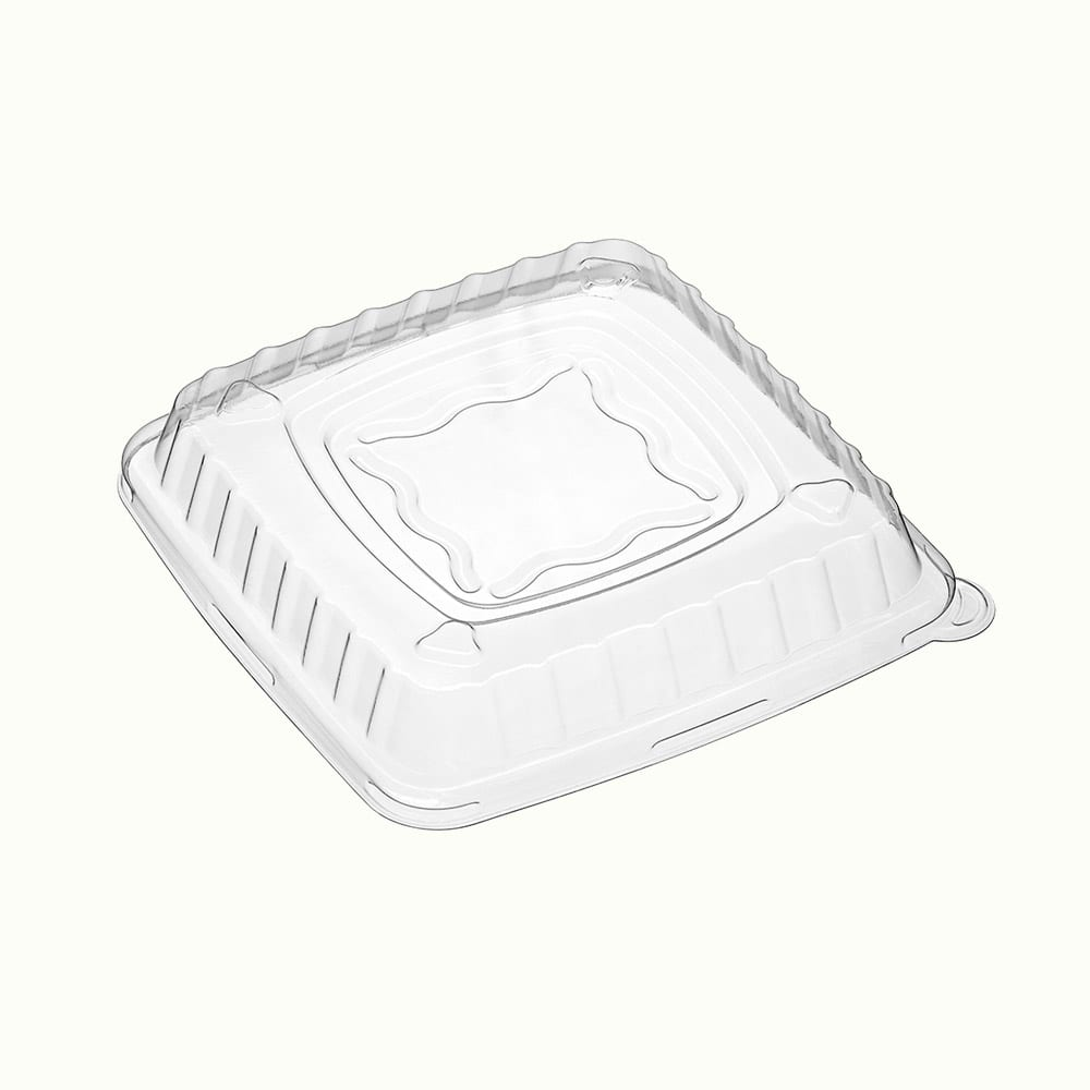 BioChoice<sup>TM</sup> PET Raised Lid for Square Containers