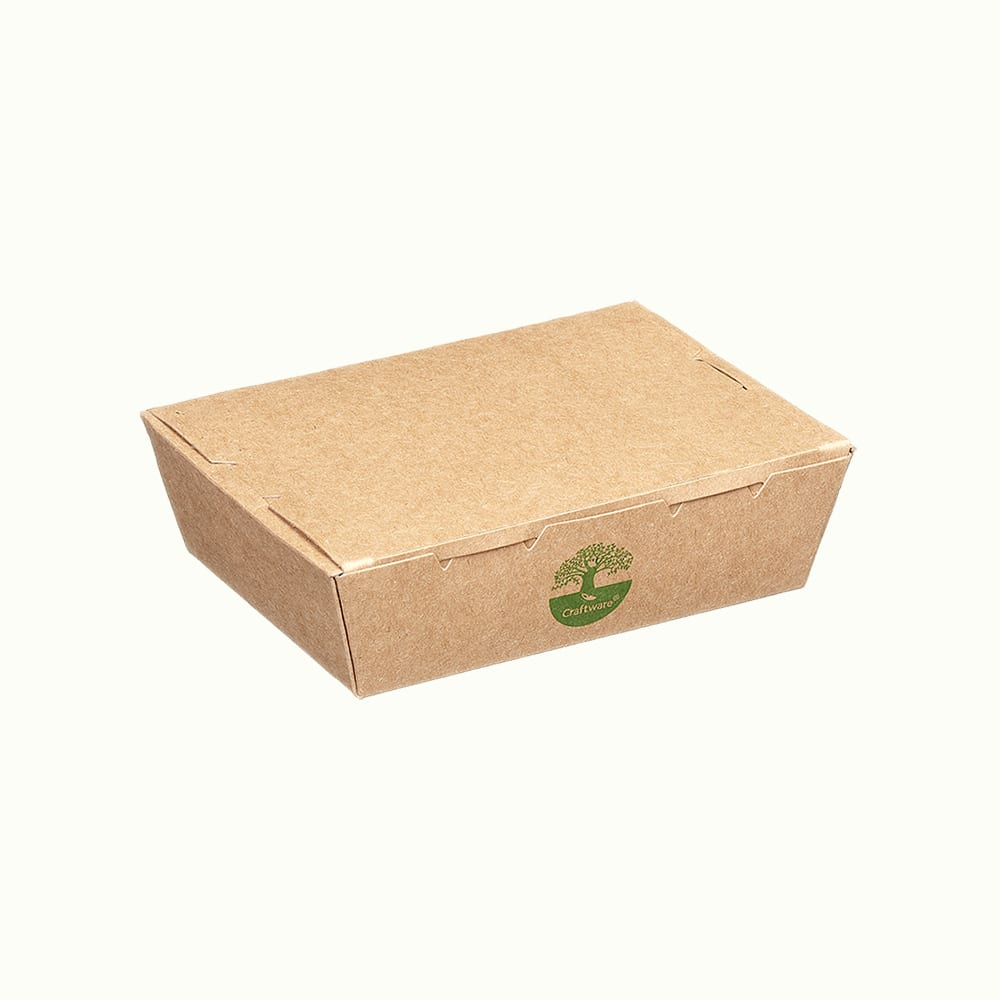 CraftWare<sup>TM</sup> Kraft Meal Boxes with Green-tree Graphic