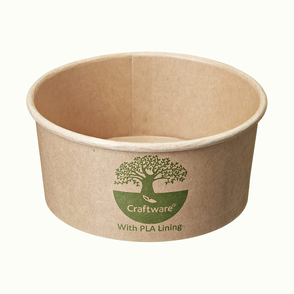 CraftWare<sup>TM</sup> Kraft Round Containers with Green-tree Graphic
