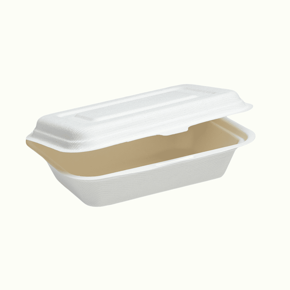 BioChoice<sup>TM</sup> Sugarcane Hinged Lid Meal Boxes
