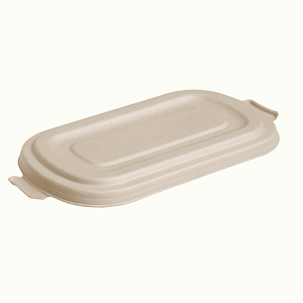 BioChoice<sup>TM</sup> Sugarcane Flat Lid for Rectangular Containers