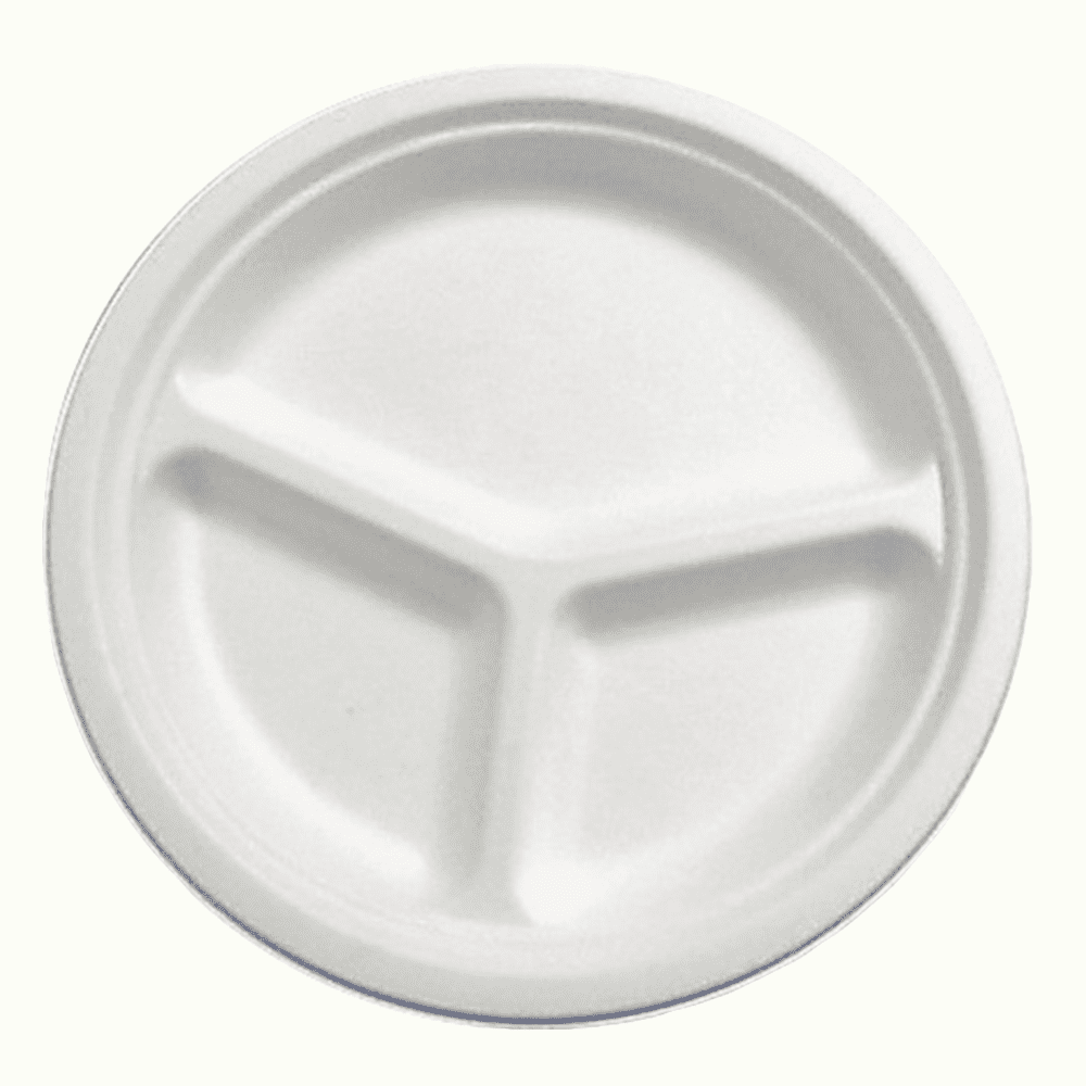 BioChoice<sup>TM</sup> Sugarcane Round 3-Compt. Plate