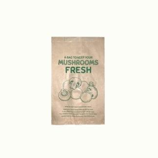 Brown mushroom paper bag