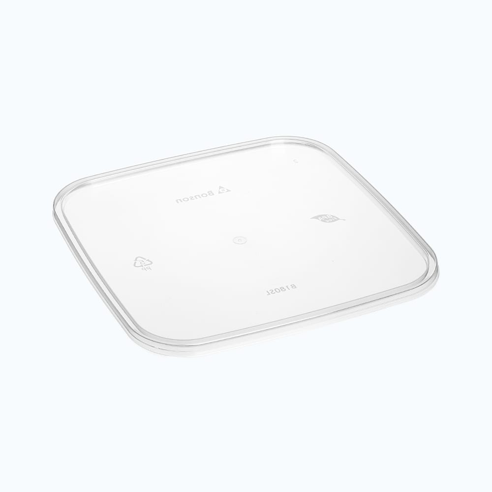 BonWare<sup>TM</sup> PP Flat Lids for Square Storage Containers