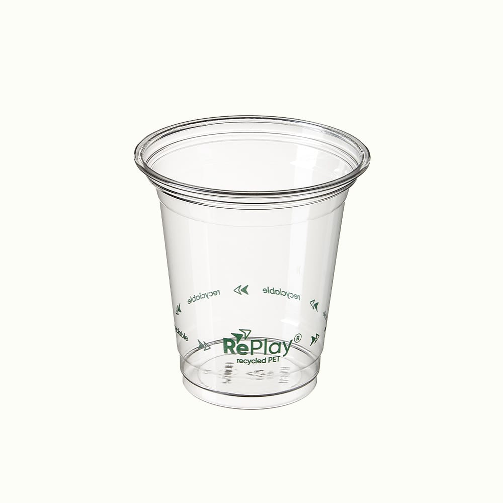 RePlay<sup>TM</sup> rPET Clear Cold Cups with Logo Print